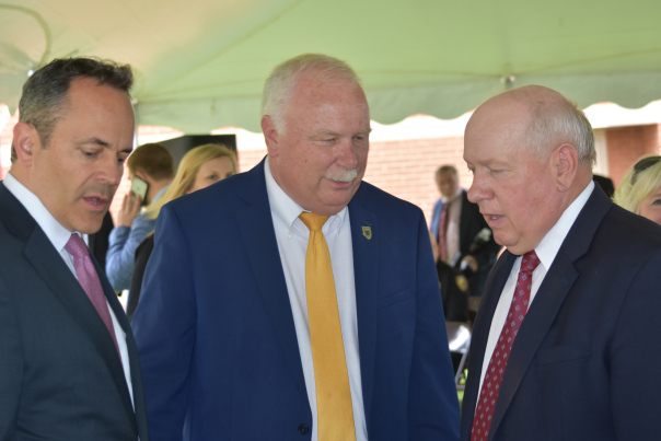 Governor Matt Bevin, Murray State University Hutson School of Agriculture dean Tony Brannon and Governor's Office of Agriculture Policy executive director Warren Beeler