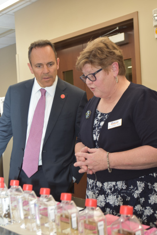 Governor Matt Bevin and BVC director Dr. Debbie Reed
