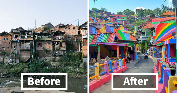 Indonesian town becomes rainbow village