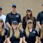 The Large Animal Veterinary Medical Club has raised over $4,000 for ranchers affected by recent wildfires. Officers pictured are: Front row (left to right) Kara Sutphen, Kellie Sholes, McKenzie Leu, Rachael Granville. Back row (left to right) Club Adviser Bruce Brodersen, Ben Eilerts, Heidi Black, Tanner Kremke. (Courtesy of UNL)