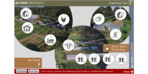 NC State Extension has led the development of four virtual field trips of local or community-based food system projects and businesses in North Carolina. (NC State Extension)