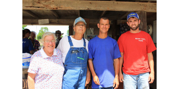 Judy, Dean and Mike Henry, and Matt Howieson. (Courtesy of Practical Farmers of Iowa)