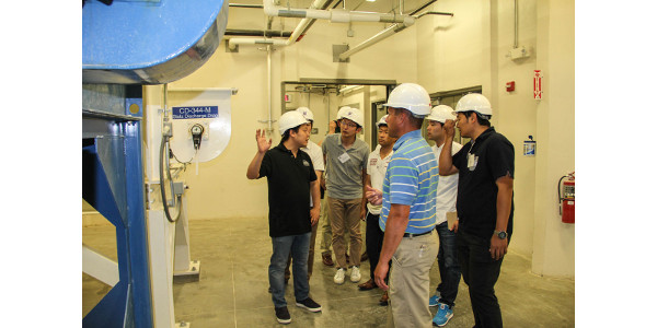 Participants in the USSEC Japan Feed and Poultry Nutrition Training tour the O.H. Kruse Feed Technology Innovation Center on the KSU campus. (Courtesy of KSU-IGP Institute)