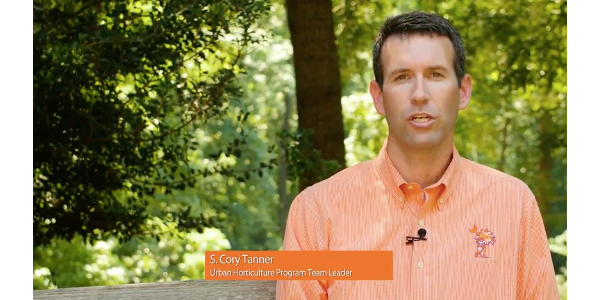 Urban Horticulture Program team leader, Cory Tanner. (Screenshot from video)
