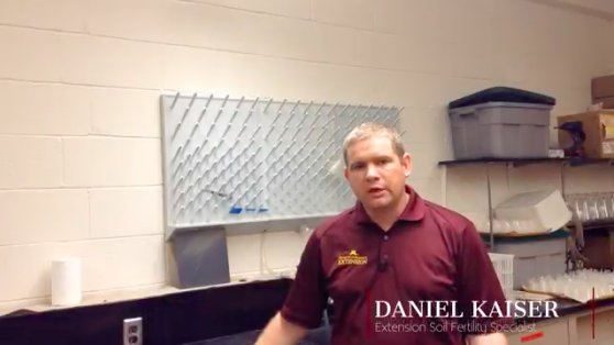 Watch Extension Soil Fertility Specialist Dan Kaiser explain best management practices for the PSNT test from the field to the lab. (Screenshot from video)