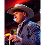 R.P. Smith, UNSTA alumnus, Custer County rancher, and cowboy poet, will serve as emcee and entertainment at the UNSTA-NCTA Aggie Alumni Association 2017 Annual Banquet on June 24 at Broken Bow. Above left, he performed during the alumni reunion in Curtis in 2013. (Crawford/NCTA News file photo)