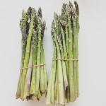 One of the very first outdoor locally-grown vegetable crops available in the spring is Michigan asparagus. (Photo credit: Mariel Borgman, MSU)
