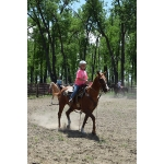 Youth have an opportunity to improve their riding skills during a camp at the North Dakota 4-H Camp near Washburn. (NDSU photo)