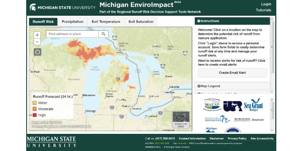 EnviroImpact nutrient management tool