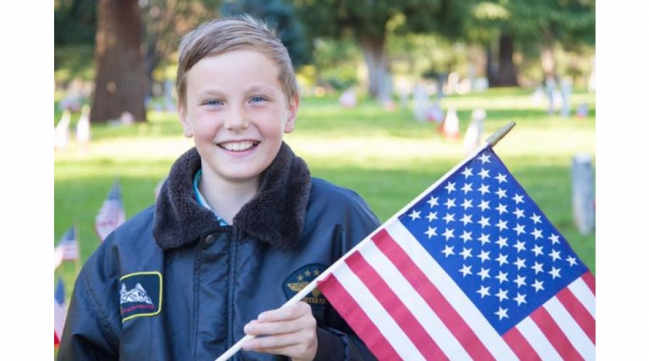 Boy decorates thousands of veterans' graves