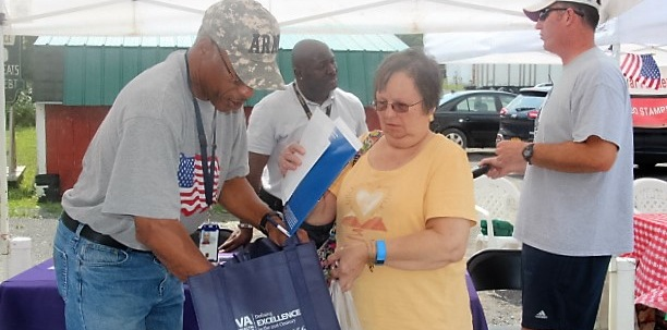 Veterans Services Day at the market