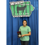During the recent NJAS, National Junior Angus Association (NJAA) member Cheyenne Jones of Campbellsville, Ky., was named the 2017 Junior Herdsman of the Year. (Courtesy of Angus Media)