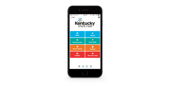 The Kentucky State Fair announces the release of its new mobile app, now available free on both Google Play and the App Store. (Courtesy of Kentucky Venues)