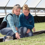 Meet Mary Beth and Anna Jackson: farmers, entrepreneurs and contributors to White Hill Farm, a family operation they work with Troy and Duane Jackson. (Courtesy of NC State University College of Agriculture and Life Sciences)
