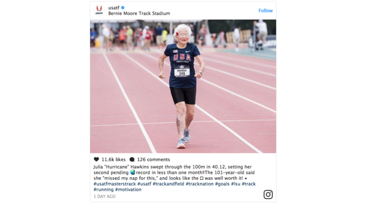 'I missed my nap for this': 101-year-old sprinter breaks record