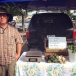 Tyson Allchin at Muscatine Area Farmers Market. (photo courtesy of Muscatine Area Farmers Market)