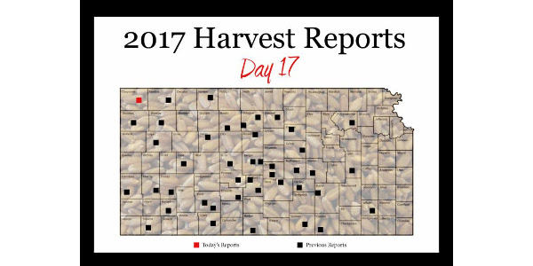 This is the final 2017 Kansas Wheat Harvest Report brought to you by the Kansas Wheat Commission, Kansas Association of Wheat Growers and the Kansas Grain and Feed Association.
