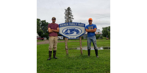 Bryce Riemer of Brodhead, WI, enrolled in the program in 2016 to work with mentor Jacob Marty of Monticello, WI. (Courtesy of Southwest Badger RC&D)