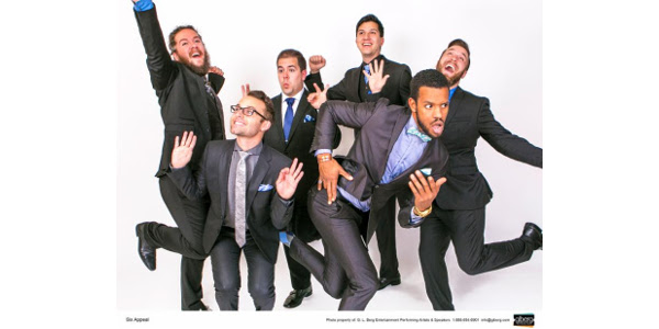 Six Appeal, a long-time favorite of many fairgoers, is a world class vocal ensemble infused with impeccable comedic timing and the energy and vitality of a rock band. (Courtesy of Clay County Fair)