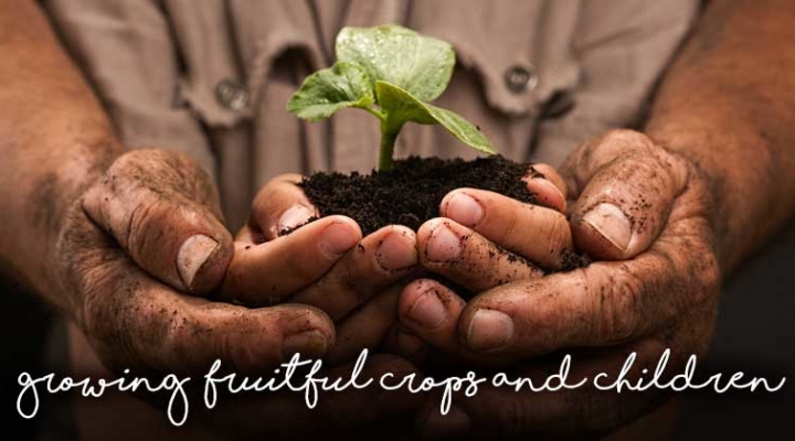 Growing fruitful crops and children