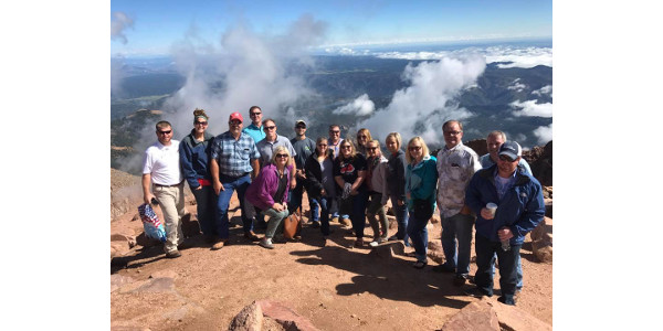 The group spent their last day visiting visiting two different cattle ranches and touring some of Colorado's beautiful scenery, including being at the top of Pikes Peak. (Courtesy of Kentucky Cattlemen's Association)