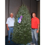 A Balsam Fir Christmas Tree grown by David and Jim Chapman of Silent Night Evergreens, located in Endeavor, Wisconsin, was awarded the 2017 Grand Champion at the National Christmas Tree Association's (NCTA) 2017 National Christmas Tree Contest. (Courtesy of The National Christmas Tree Association)