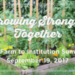 South Carolina Farm to Institution is excited to announce its inaugural summit on Tuesday, September 19 from 8:30 am- 4:30 pm at the R2i2 Conference Center, 763 Fashion Drive.