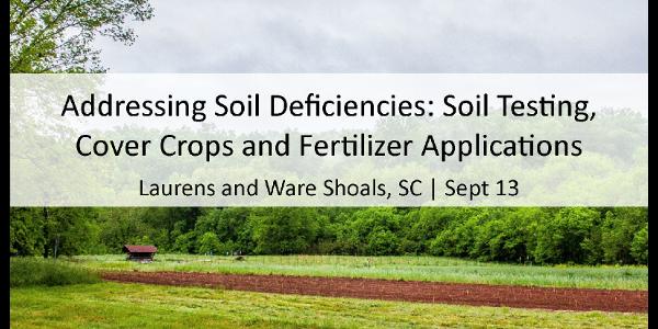 Addressing soil deficiencies
