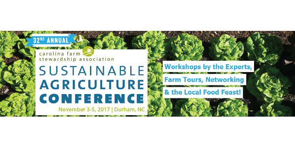 Sustainable Agriculture Conference Nov. 3-5