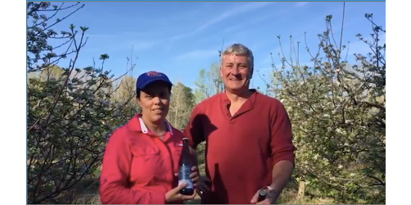 Ann Marie and David Thornton grow apples and make cider in Southern Pines. (Screenshot from video)