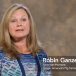 Dr. Robin Ganzert, President and CEO of American Humane is one of the panel members. (Screenshot from video)