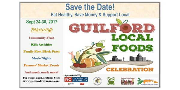 Join the NC Cooperative Extension Guilford County Center as we conclude Local Foods Week with our Family First Block Party centered on healthy and holistic living.