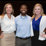 Members of the UK Agricultural Economics' Academic Bowl team are Zoe Gabrielson, Jordan Champion and Erica Rogers. (PHOTO: Agricultural and Applied Economics Association)