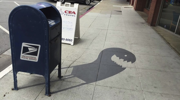 Artist paints fake shadows to confuse people
