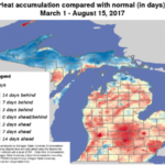 A map generated by Michigan State University Enviroweather. (Courtesy of MSU Extension)