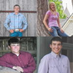 The recipients were Quentin Haas of Madison, Derek Pfeifer of Ellis, Sam Davis of Madison, Jacee (Owens) Rietbrock of Minneapolis, and Chelsey Bieberle of Bushton. (Courtesy of Kansas Cattlemen's Association)