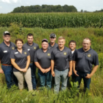 Corn Corps members participating in the domestic ag tour were left to right: Tanner McNinch, Ness City; Krystale Neitzel, Lawrence; Brandon Heier, Grainfield; JD Hanna, Silver Lake; Lowell Neitzel, Lawrence; Dallin Willis, Garden City; Matt Splitter, Lyons and Geoff Burgess, Sterling. Unable to attend were: Coby and Megan Baalman, Menlo; Janna Splitter, Lyons and Kelsey Pagel, Wetmore. (Courtesy of Kansas Corn)
