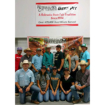 NCTA Aggies who served at the State Fair Beef Pit, front row, from left, Cole Fiene, Shayla Woracek, Nicole Ackland, Carlee Stutz and Damian Wellman. Back row, from left, Cole McDonald, Cade Francis, Dalton Keller, Garison Fisher, Peyton Grote, Sarah Fitzgerald, Lennae Eisenmenger and Jeremiah Tate. (Bek/NCTA Photo)