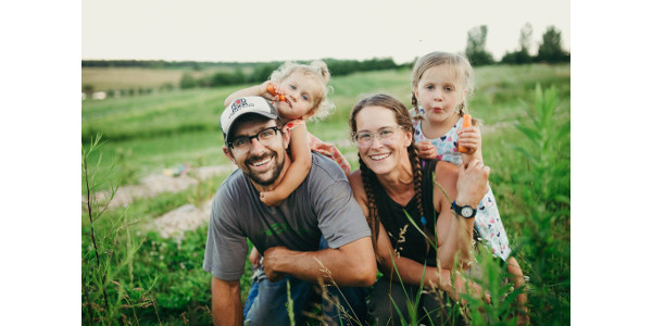 "Stacey and Tenzin Botsford and their two young daughters farm near Athens. When Stacey was pregnant with their second daughter, the obstetrics department at their local clinic was eliminated due to budget cuts. The next closest hospital to them was an hour away, and when it came time for the baby to be born, it was too late to get to the hospital, so their child was born at home. ""It's like they don't want young people to come back to rural communities. Why would you cut these essential services if you want young people and their children to live and work there?"" Botsford asked. (Courtesy of Wisconsin Farmers Union)"