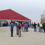 The Parks Companies welcomed nearly 400 members of the community to an Open House at a new 8,200 head wean to finish hog farm on Monday, September 11th, near Fithian. (Courtesy of Illinois Pork Producers Association)