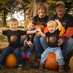 Fred and Cindy Howell and grandchildren. (Courtesy of Practical Farmers of Iowa)
