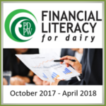 To showcase level one and two of the PDPW Financial Literacy for Dairy curriculum, the inaugural class is set for Oct. 23-24 and Dec. 19-20, 2017, and continues Jan. 23-24 and concludes Apr. 9-10, 2018.