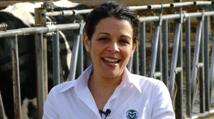 Dr. Noa Román-Muñiz is an associate professor of animal sciences at Colorado State University and a highly skilled educator. (Courtesy of Colorado State University)