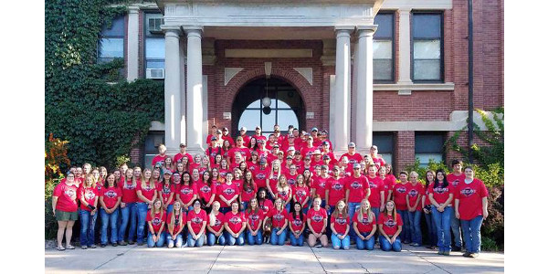The Nebraska College of Technical Agriculture at Curtis began fall classes August 21 with 129 new students, 103 freshmen and 26 transfer students. Campus enrollment for full, part-time and transfer students on campus is 255, up 4 percent this fall. (R. Bauman/NCTA Photo)