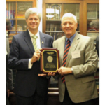 Nebraska Farmers Union (NeFU) presented Representative Jeff Fortenberry with the Golden Triangle Award, National Farmers Union's (NFU) highest legislative honor. The award was presented recently as part of the annual NFU fall Fly-In that brought 320 Farmers Union members from across the country to Washington, DC to share their views and concerns with their elected officials. (Courtesy of NeFU)