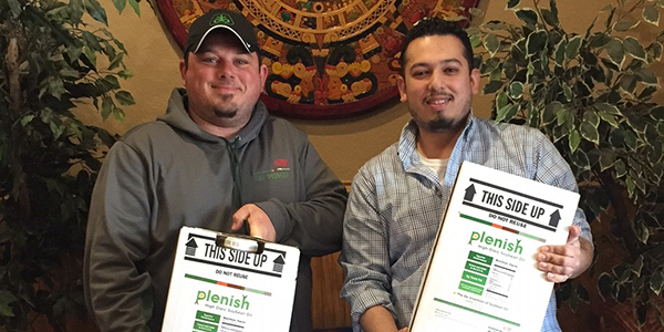 The Nobles County Corn and Soybeans Growers donated high oleic soybean oil to area restaurants, promoting the benefits to both restaurant owners and consumers. (Courtesy of Minnesota Soybean)