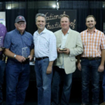 2017 Kansas Wheat Yield Contest Winners: Alec Horton, Richard Seck, Lt. Governor Jeff Colyer, Spencer West, Neil Bekemeyer and Kansas Wheat Commissioner Scott VanAllen. (Courtesy of Kansas Wheat)