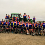 The #FarmPower team was out pedaling across Kersey, Keensburg and Brush in this year's Pedal the Plains bike race over the weekend. (Courtesy of Colorado Farm Bureau)