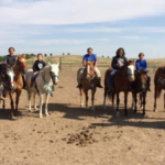 This summer more than 75 attended one of six Bringing the Family Back to Life Equine Camps hosted by Sinte Gleska University of Mission. SDSU Extension 4-H Programming helped out with equine and STEM activities. These campers participated in the Boys Horse Camp. (Courtesy photos)