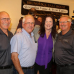Eastern Kansas KCGA and KCC board members Roger Pine, Pat Ross and Ken McCauley celebrated the announcement on Tuesday with Kansas Secretary of Agriculture, Jackie McClaskey. (Courtesy of Kansas Corn)